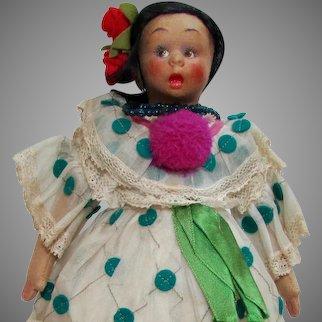 """9"""" Lenci Mascotte, Rare Mexican Costume, Box & Tags"""