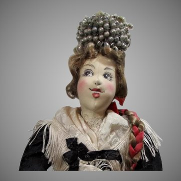 "15"" Ilse Ludecke Doll in a German Bride's Costume"