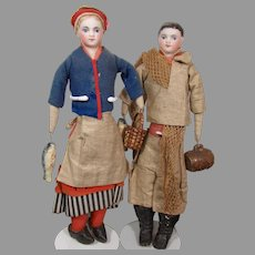 "10"" French Fisherman & Fisherwoman Pair"