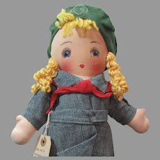 """Vintage Cloth 15"""" Girl Scout Doll"""