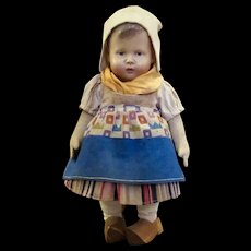 "9"" Early Buschow & Beck Doll, all original German regional costume"