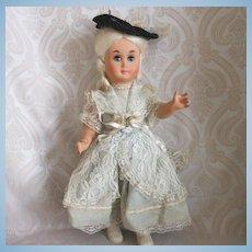 Vintage Hard Plastic Doll in Original Costume