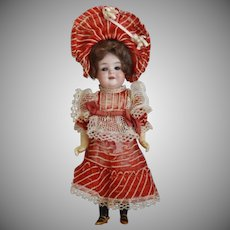 Wonderful All Original German Bisque Socket Head Character Doll by Armand Marseille