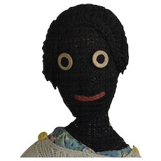 Black Knitted Yarn Doll - Red Tag Sale Item