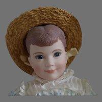 "NIADA Artist Martha Thompson Victorian Girl Porcelain Artist Doll ""Betsy"""