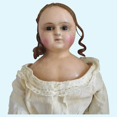 Early English Slit Head Wax Doll