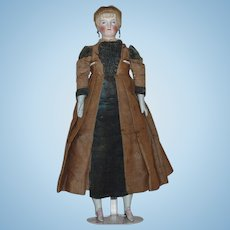 German Parian Bisque Doll with Gloved Hands and Matching Shoes