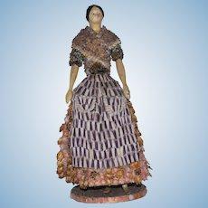 Early German Milliner's Model Shell Doll