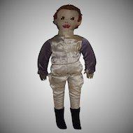 Vintage Cloth Jockey Doll in Silks