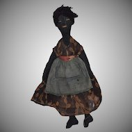 Black Cloth Lady Doll in Original Costume