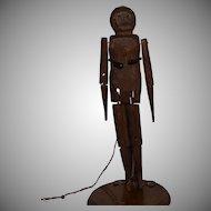 Antique Primitive Wooden Folk Art Dancing Doll
