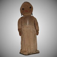 Primitive Antique White Stockinet Bottle Doll