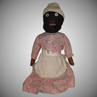 Antique Black Cloth Bottle Doll