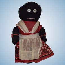 Vintage Folk Art Black Sock Doll