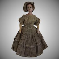 Petite Early Wax Lady Doll