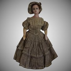 Petite Early Wax Lady Doll