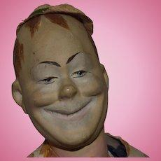Unique French Papier Mache Character Man Doll