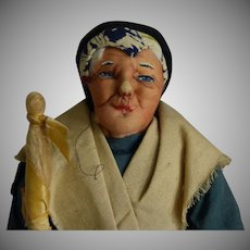 All Original French Cloth Doll by Bernard Ravca