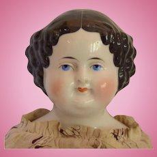 German Kestner Flat Top China Head Doll