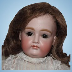Early Cabinet Size Kestner Bisque Head Pouty Doll