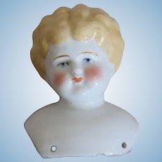 Blonde Hair German China Head Doll by Hertwig