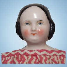 German Kestner Covered Wagon China Head Doll with Homemade Body