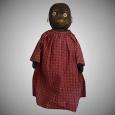 Antique Black Stockinette Bottle Doll