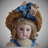 French Steiner Bisque Head Doll Figure A with Closed Mouth