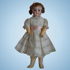 "Early ""Moon Face"" Kestner Closed Mouth Bisque Head Doll"