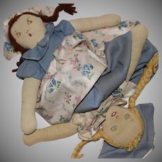 Vintage Topsy Turvy Cloth Doll