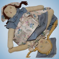 Vintage Topsy Turvy Cloth Doll