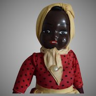 Vintage Composition Head Black Lady Doll