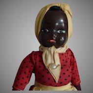 Vintage Composition Head Black Lady Doll