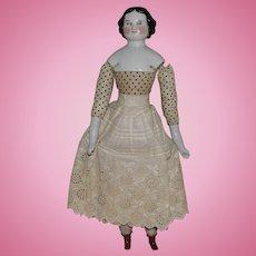 German Modified Covered Wagon China Head Doll