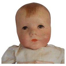 """Kathe Kruse German Oil Painted Cloth Baby """"Du Mein"""""""