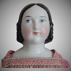 "Early German China Head Doll with ""Lydia"" Hairstyle"