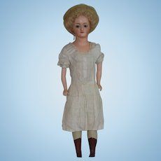 Fabulous German Composition Papier Mache Lady Doll
