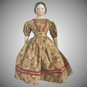 Kister German China Head Doll with Covered Wagon Hairstyle