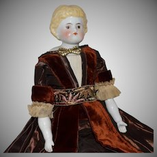 Blonde Highland Mary ABG German China Head Doll