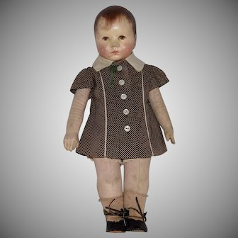 Kathe Kruse German Cloth Du Mein Doll VII