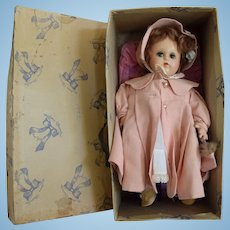 "Madame Alexander Composition ""Little Genius"" All Original Doll in Box"