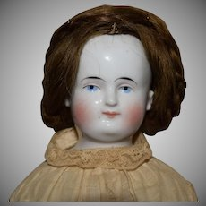 Alt, Beck & Gottschalck German China Bald Head Doll with Wig