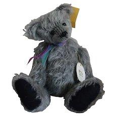 """Alie"" Blue Mohair Artist Bear"