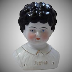 "German Pet Name China Head ""Bertha"" by Hertwig & Company"