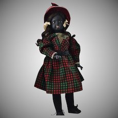 Black Bisque Character Doll by Franz Schmidt