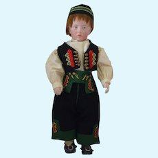 "Sonneberg Art Character German Bisque Head Doll Resembling Kammer & Reinhardt ""Carl"""