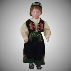 "Sonneberg Art Character German Bisque Head Doll Resembling Kammer & Reinhardt ""Carl"""