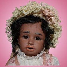 Simon & Halbig German Brown Character Bisque Head Doll