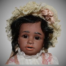 Simon & Halbig German Brown Character Bisque Head Doll
