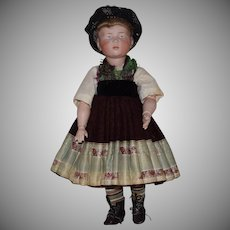 "Sonneberg Art Character German Bisque Head Doll Resembling Kammer & Reinhardt ""Marie"""